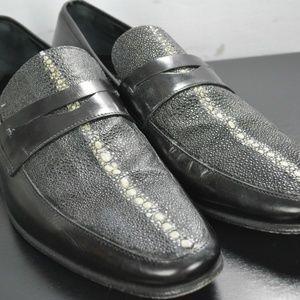 EXOTIC Ferragamo Stingray & Leather Loafers
